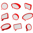 Stock Photo: 3d speech bubbles