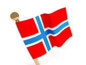 Norwegian flag — Stock Photo