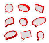3d speech bubbles — Stock Photo