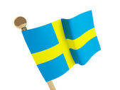 Swedish flag — Stockfoto