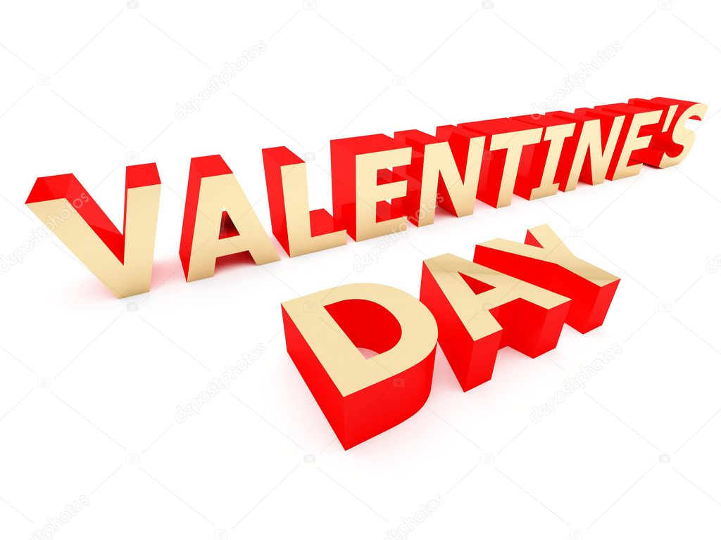3d illustration of Valentines day — Foto de Stock   #7672701