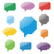 Pixel glossy speech bubbles — Stock Vector