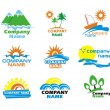 Tourism and vacation icons and logo design — Vektorgrafik