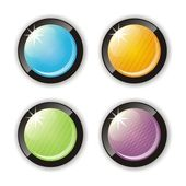 Four glossy buttons — Stock Vector