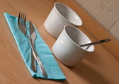 Breakfast set ready for use — Foto de Stock