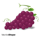 Realistic red grapes — Stock Vector