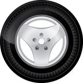 Car tire — Foto Stock
