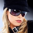 Fashion woman portrait - sunglasses - Stock Photo