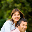 Happy and energetic couple portrait — Stock Photo