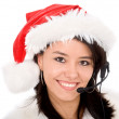 Royalty-Free Stock Photo: Christmas customer service representative