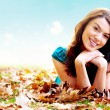 Autumn girl portrait outdoors — Stock Photo #7568429