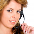 Customer service girl — Stock Photo #7568433