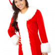 Royalty-Free Stock Photo: Female christmas santa
