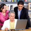 Adult online education — Stock Photo