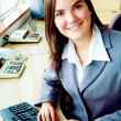 Business accountant portrait in an office — Stock Photo
