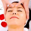 Beauty facial massage - Stock Photo