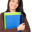 Female student with notebooks — Foto de stock #7568492