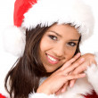 Female santa claus — Stock Photo