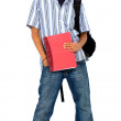 Royalty-Free Stock Photo: Casual student with a notebook