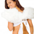 Beautiful angel with wings — Stock Photo #7568569
