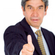 Business man - thumbs up — Stock Photo