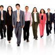 Business team walking forward — Stock Photo #7568649