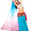 Beautiful arabic belly dancer - Stock Photo