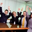 Business success - team at the office — Stock Photo