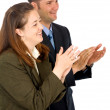 Business partners applauding — Stock Photo #7568657