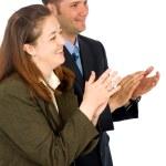 Business partners applauding — Stock Photo
