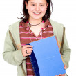 Female student with notebooks — Foto de stock #7568677