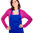 Female chef portrait - Stock Photo