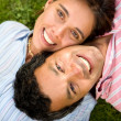Couple portrait on the floor — Stock Photo #7568777