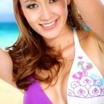 Beach portrait girl — Stock Photo