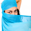 Beautiful arabic belly dancer — Stock Photo