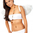Beautiful angel over white — Stock fotografie