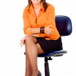 Business woman portrait on a chair — Stock Photo