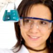 Female chemistry student — Stock Photo