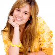 Beautiful blond young girl — Stock Photo
