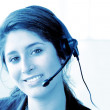 Royalty-Free Stock Photo: Customer support center woman