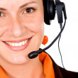 Foto Stock: Customer service girl
