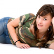 Stock Photo: Casual girl portrait