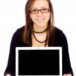 Royalty-Free Stock Photo: Casual girl on a laptop