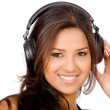 Pretty girl listening to music — Stock Photo #7568996