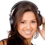 Pretty girl listening to music — Stock Photo #7568996