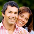 Couple outdoors smiling — Stock Photo #7569031
