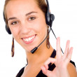 Customer service girl — Stock Photo