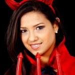 Female red devil — Stock Photo