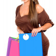 Royalty-Free Stock Photo: Girl with shopping bags