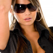Beautiful fashion woman - sunglasses — Stock Photo